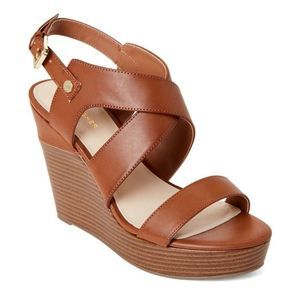 Marc Fisher | Rockey Brown Leather Wedge Sz 10